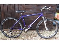 """Raleigh Max Mens / Boys Mountain bike 17"""" . Frame . 21 gears . 26"""" Wheels front suspension"""