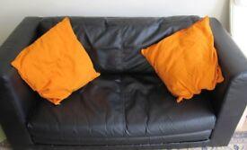Like new 2 Seat IKEA Leather Sofa Bed