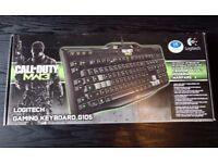 *Limited Edition* LOGITECH G105 GAMING KEYBOARD COD MW3 PC Laptop Computer UK Version QWERTY USB