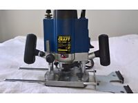 Power Craft Variable Speed Plunge Router with Accessories and Cutters.