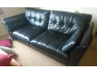 Leather 3 seat sofa barely used