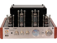KODA-TA10BT Stereo Tube Amplifier USB / Bluetooth VU-meter