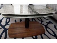 Dwell Roma marble ceramic rotating coffee table