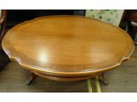 LOVELY LARGE TIERED MAHOGANY COFFEE TABLE - WE CAN DELIVER