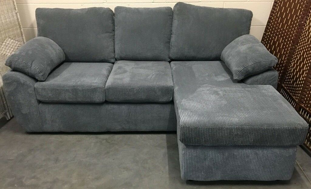 Surprising Rebecca 3 Seater Reversible Corner Chaise Sofa Left Right Hand Jumbo Cord Grey New In Stockport Manchester Gumtree Pdpeps Interior Chair Design Pdpepsorg