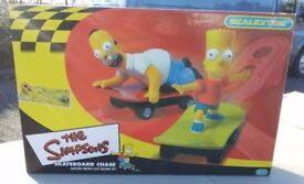 Simpsons Skateboard Chase Scalextric Set - Ideal Christmas Present