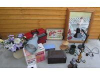 Vintage retro Joblot house clearance items car boot sale Anglepoise lamp etc