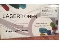 Laser toner printer cartridge and drum