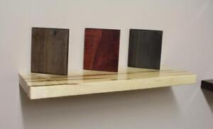Solid Wood Floating Shelves with Hidden Steel Brackets - FREE SHIPPING