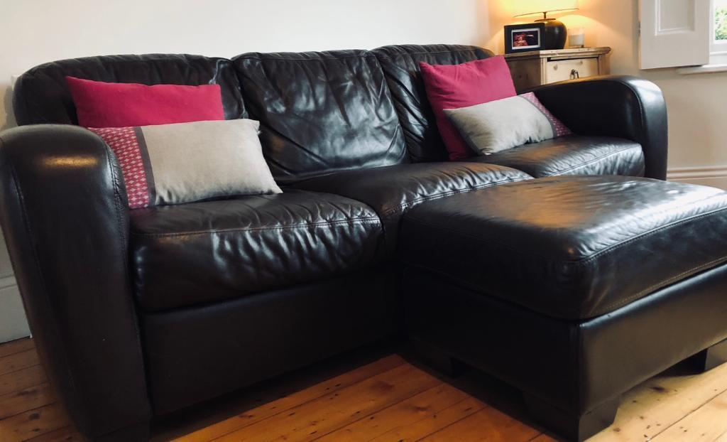 Natuzzi Italsofa Brown Leather 3 Seater