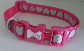 Pink Collar with heart imprints, M