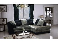 Bella Crushed Velvet Right Hand Fabric Corner Sofa
