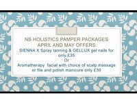 Health and beauty services-Spray Tanning, massage,facials