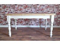 Antique Pine Farmhouse Pine Dining Table / Extending Table - in Huge Range of Sizes inc Bespoke