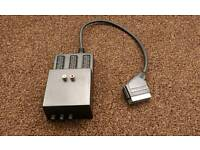 3 way switchable scart adapter