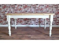 Antique Pine Farmhouse Pine Dining Table / Extending Table - in Huge Range of Sizes inc Bespoke