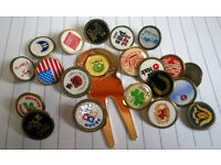joblot of vintage golf ball markers