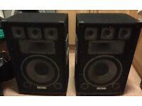 """Vonyx 12"""" passive speakers 750w"""