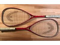 Free pair of squash racquets with covers