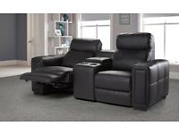 Fabio 2 seater reclining entertainment sofa