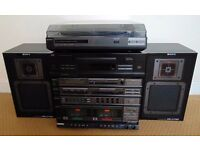 JVC CD Player & Sony Hifi (amp, radio receiver, record player turntable, tape player cassette deck)