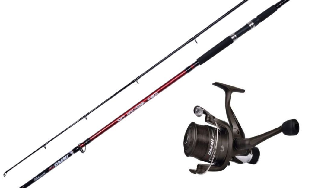 Shakespeare omni 10 ft rod reel combo pier rock mackerel for Shakespeare fishing pole