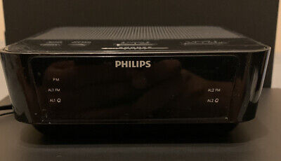 Philips Digital Alarm Clock FM Radio AJ3116M/37 Tested Working