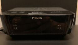 Philips Digital Alarm Clock FM Radio AJ3116M/37 Tested Working