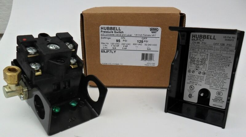 New Furnas Hubbell Siemens pressure switch 69JF7LY 95-125 replaces 69MB7LY