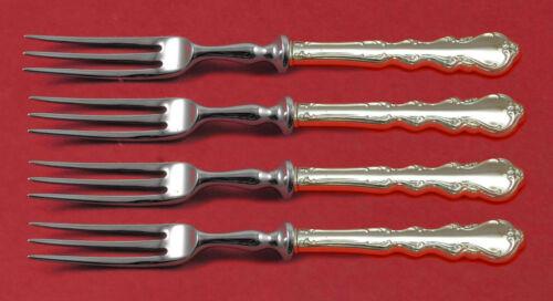 "Angelique By International Sterling Silver Fruit Fork Set 4-piece Hhws 6"" Custom"