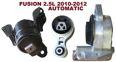 9R3147 3pc Motor Mounts fit AUTO Trans 2.5L 2010 2011 2012 Ford Fusion FWD ()