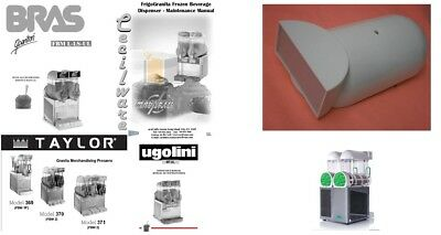 Ugolini White Lighted Cover Lid Fits Bras Taylor Cecilware Slush Equipment