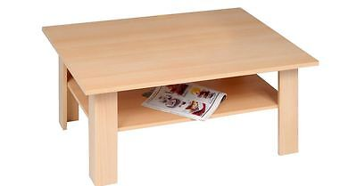 Wohnzimmer Tisch Couchtisch Holz Buche Sofatisch Beistelltisch mit Ablageboden ()
