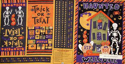 Halloween Bag Crafts - Halloween Treat Bag Banner Debbie Mumm Cut & Sew  Cotton Fabric Craft PANEL