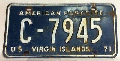 1971 U.S.Virgin Islands License Plate (C-7945)