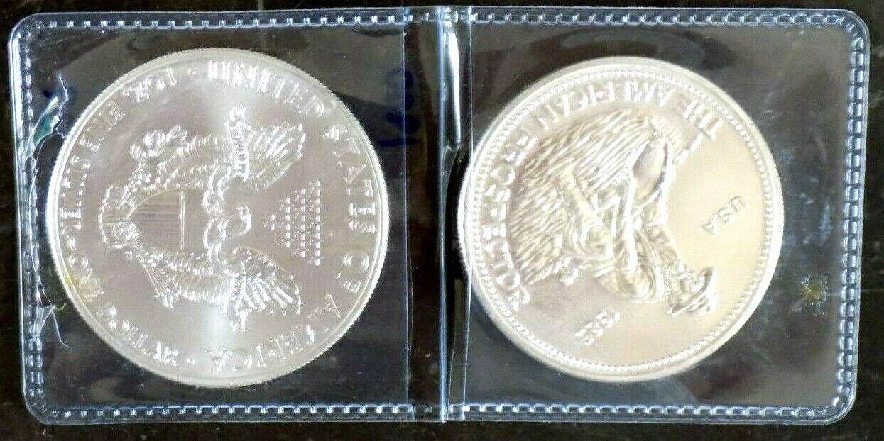 AMERICAN SILVER EAGLE 1 OZ 2014 FROSTY WHITE BU ENGELHARD 1 OZ ROUND BLAZING - $22.50