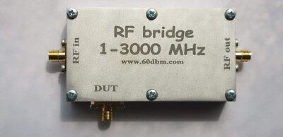 RF bridge 1-3000 MHz, VNA Return Loss SWR reflection bridge antenna, cased