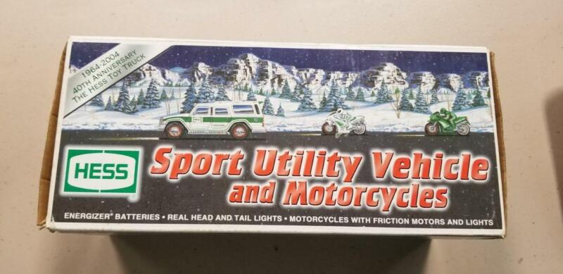 2004 Hess Sport Utility Vehicle and Motorcycles NIB Never Opened Collectable JE