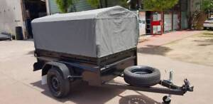 7x5 Box Trailer High Side With 600mm Cage and canvas cover $2150 Minchinbury Blacktown Area Preview