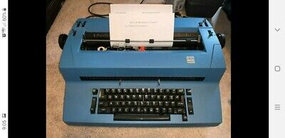 Blue Ibm Selectric Ii Correcting Typewriter - Works Great Lots Of Extras
