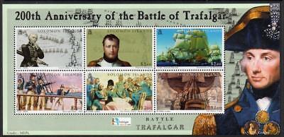 SOLOMON MNH 2005 SG1093-98 200th Anniversary of the Battle of Trafalgar
