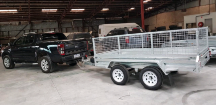 8×5 Galvanised Box Trailer Heavy duty Checker plate Single Axle Bayswater Knox Area Preview