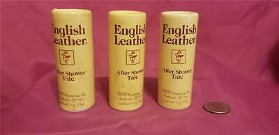 RARE Lot Of 3 Vintage English Leather After Shower Talc 1 oz / 25 (Shower Talc)