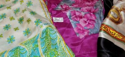 Vintage Scarf Styles -1920s to 1960s Lot of 3 Vintage Scarves 2-Silk Vera &  1 NEW Stauer Scarf $9.99 AT vintagedancer.com