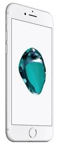 iPhone 7 32 GB Silver Unlocked -- 30-day warranty, blacklist guarantee, delivered to your door