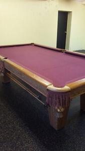 4x8 Quality Brunswick Slate Pool Table For Sale Stratford Kitchener Area image 1