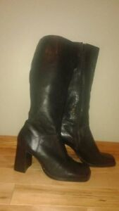 Black leather boots.Price reduced.