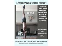 Handstand lessons - 1 on 1 or groups