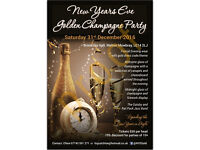 New Year's Eve Golden Champagne Party
