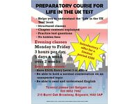 Life in the UK test preparatory course- evening classes starting 12th of September 2016 at 6.30pm